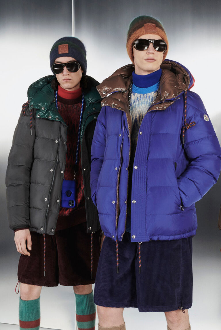 A group of men wearing clothes from the Moncler Climbing Kingdoms Collection