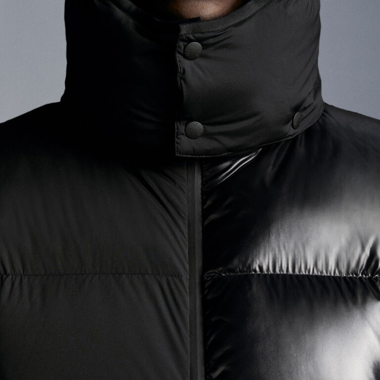 A close-up of a cold weather must-have for men by Moncler