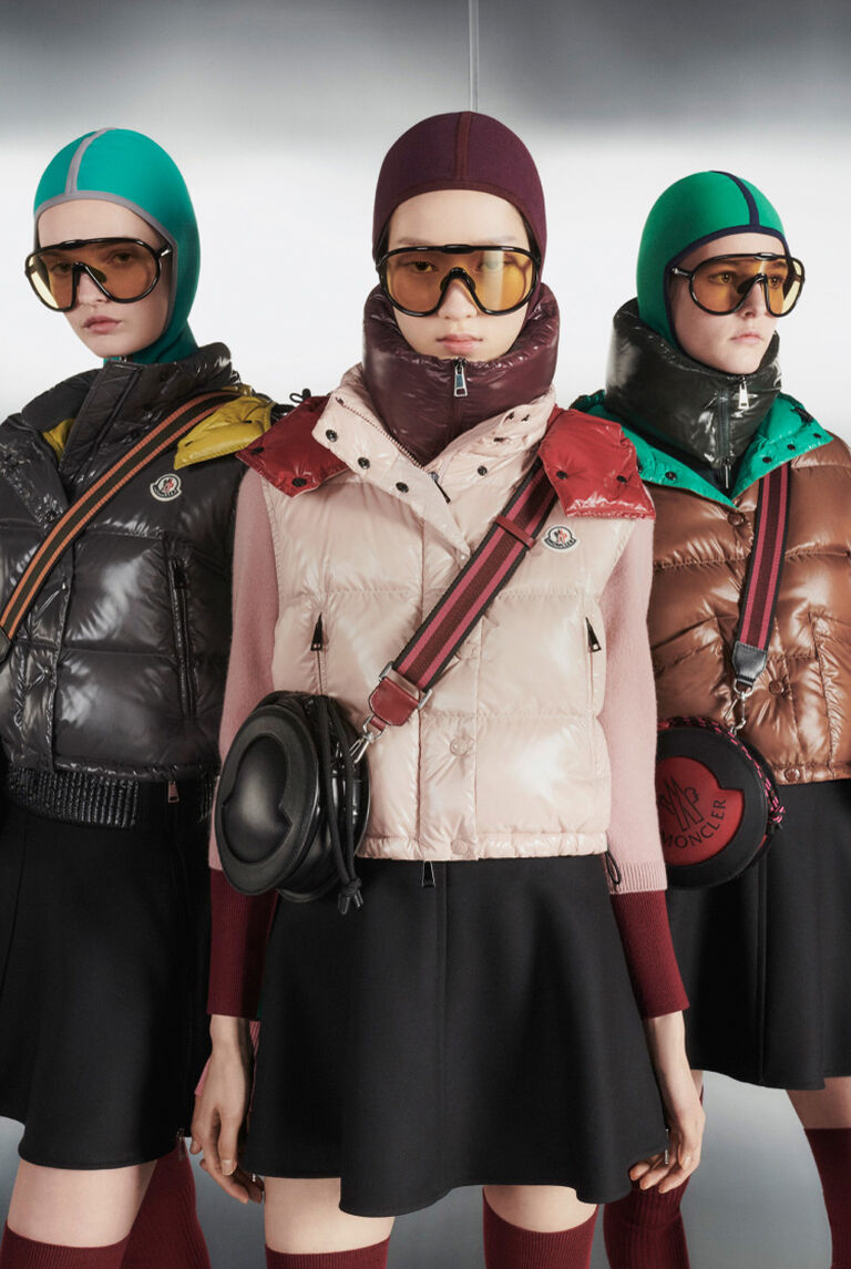 Four women wearing Moncler Cropping Up collection