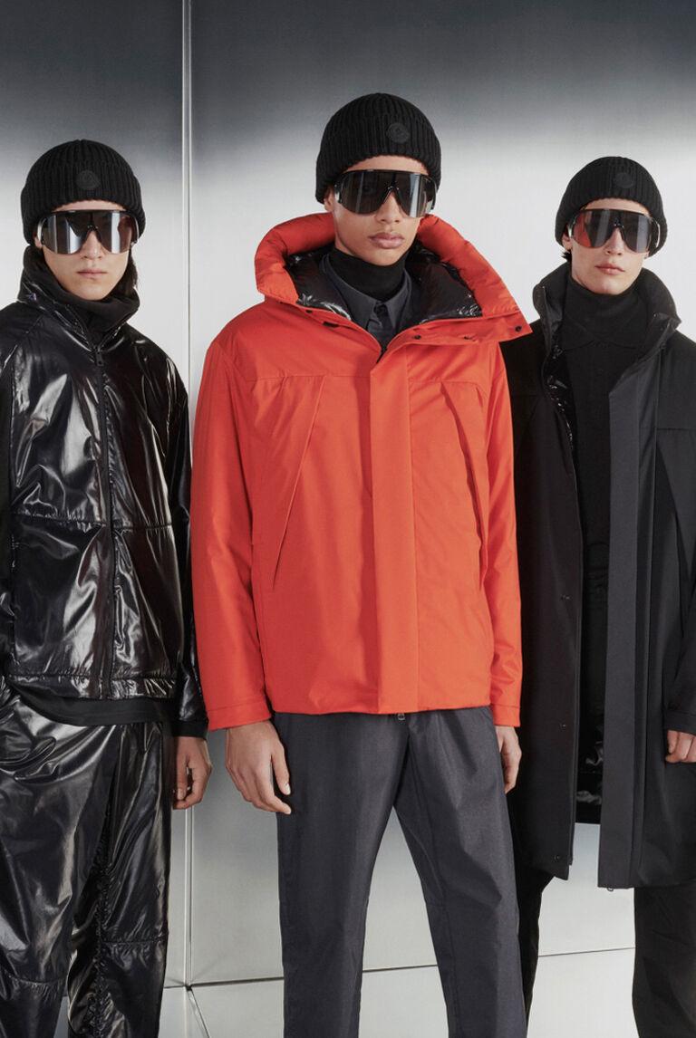 Five men wearing the Moncler Matt Black Collection