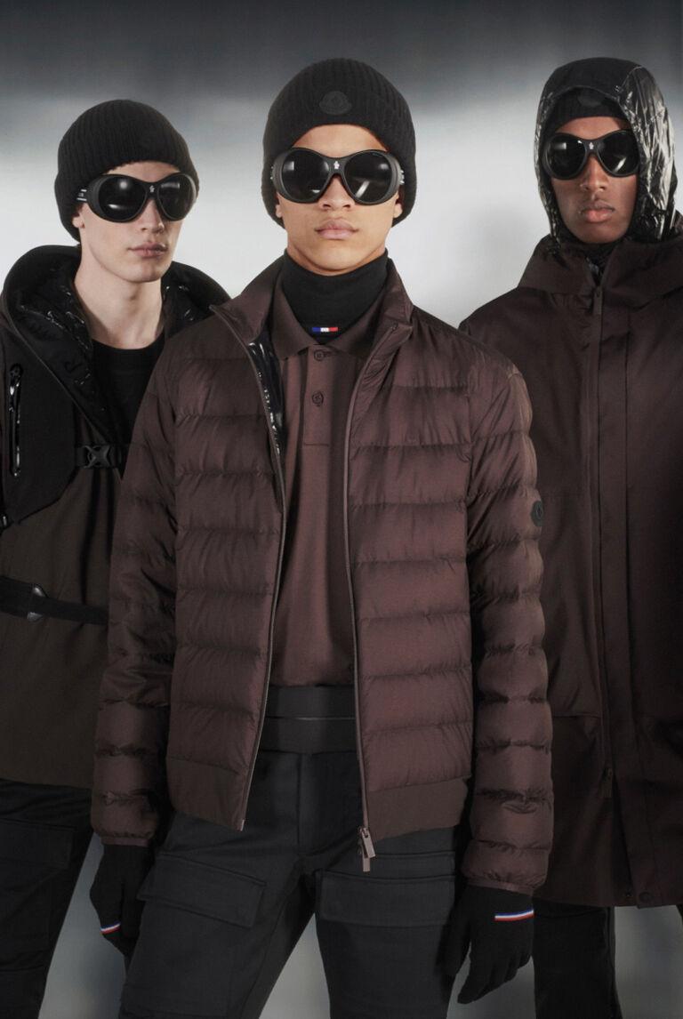Five men wearing Moncler Matt Black Collection
