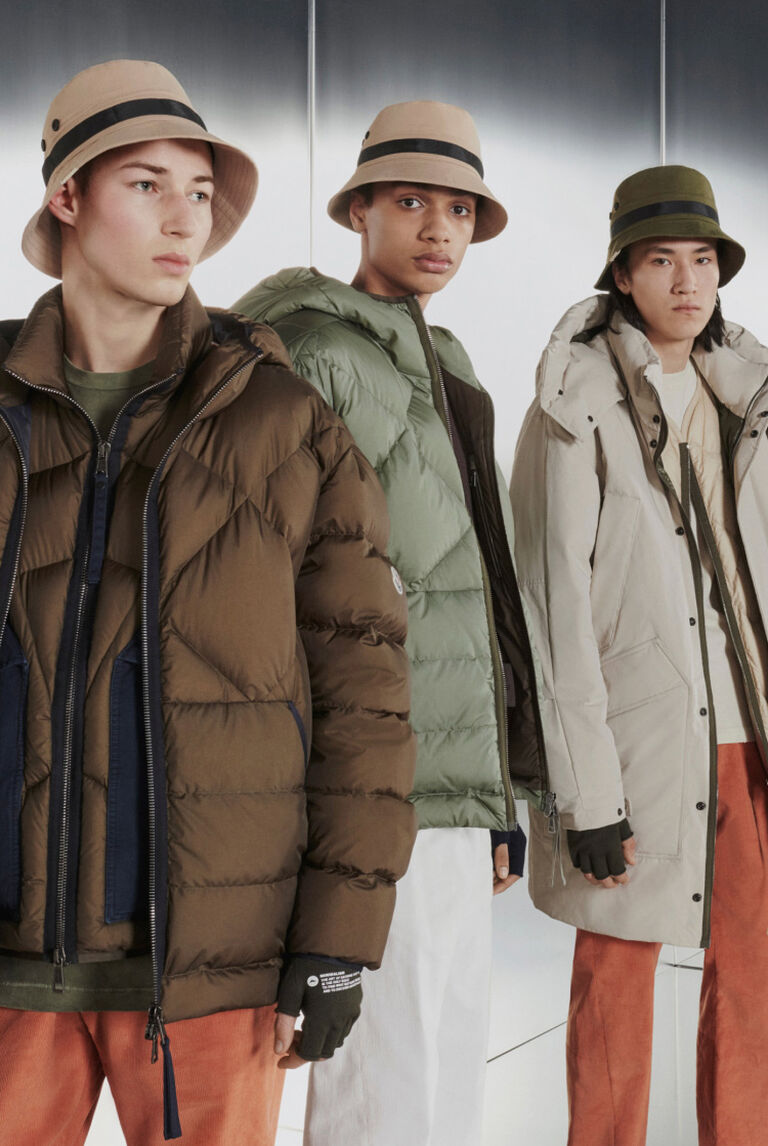 A group of men presenting the Moncler TREKKING GINZA collection