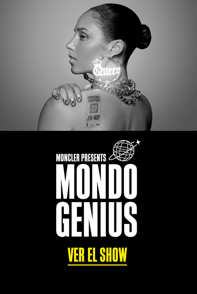 Imagen teaser del lanzamiento del evento Mondo Genius por Moncler von Alicia Keys