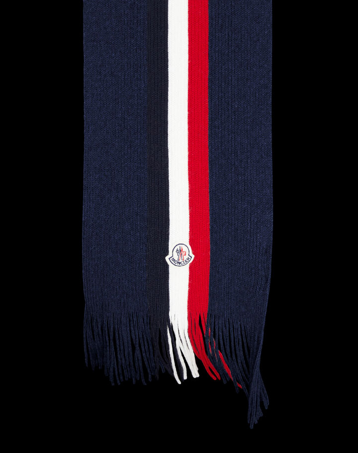Moncler Tricolor scarf Night Blue