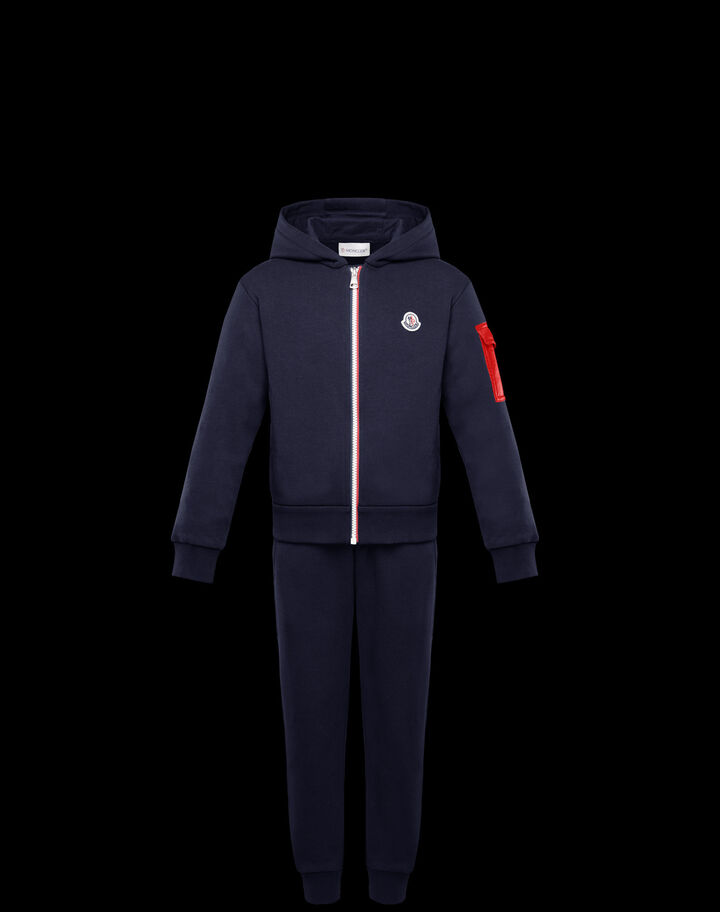 Moncler Cotton French terry set Night Blue