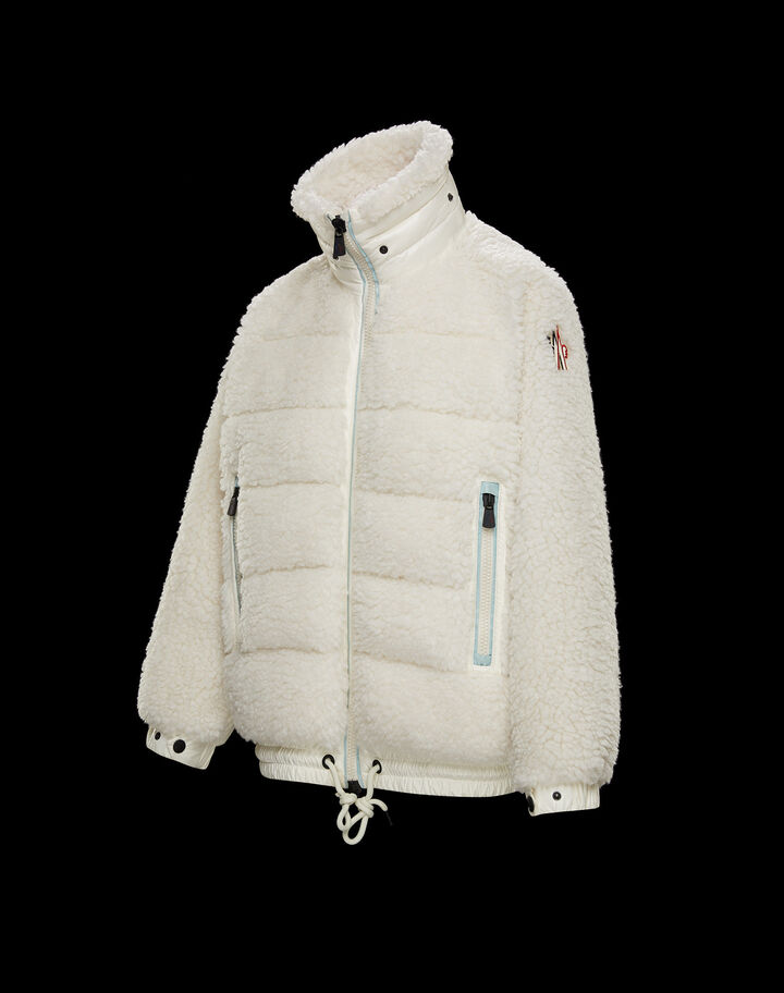 Moncler Faux fur hooded cardigan Snow White