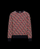 Moncler Turtleneck sweater Night Blue With Graphic