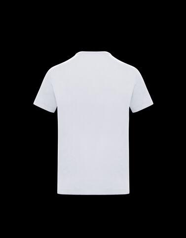Moncler 레터링 티셔츠 옵티컬 화이트