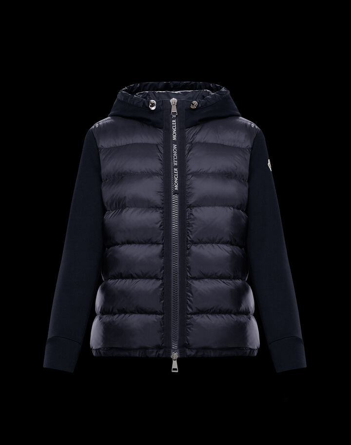 Moncler Cardigan with hood Night Blue
