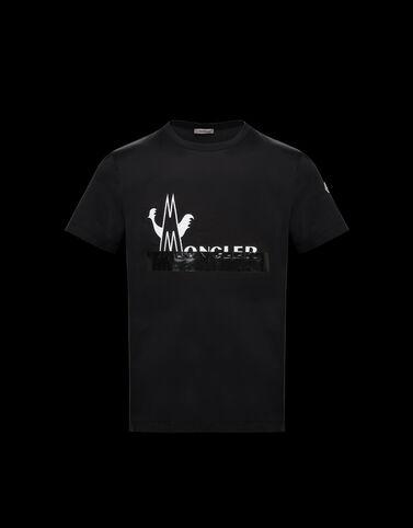 Moncler 매크로 로고 티셔츠 블랙
