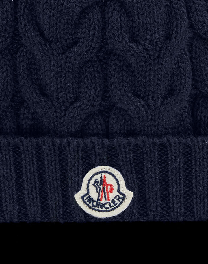 Moncler 3D-knit beanie Night Blue