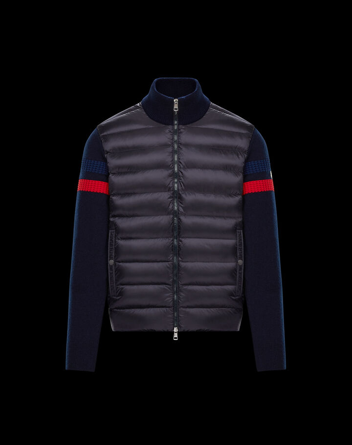 Moncler Cardigan with detail on sleeve Night Blue