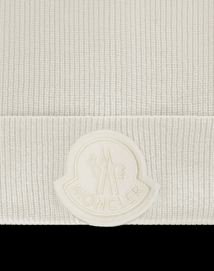 Moncler Cashmere wool beanie Off-White