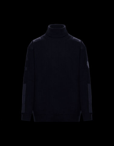 Moncler 롤 넥 니트 나이트 블루