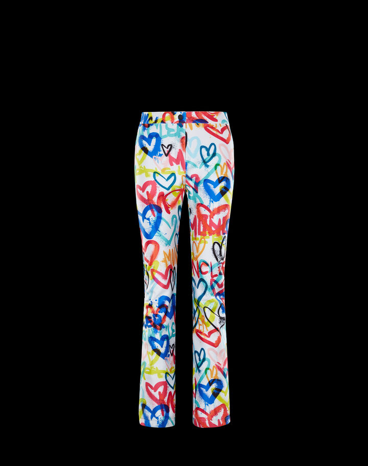 Moncler Printed sweatpants Turquoise