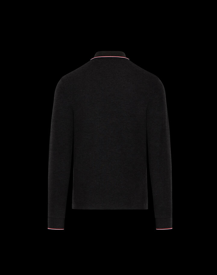 Moncler Long sleeve polo shirt Black