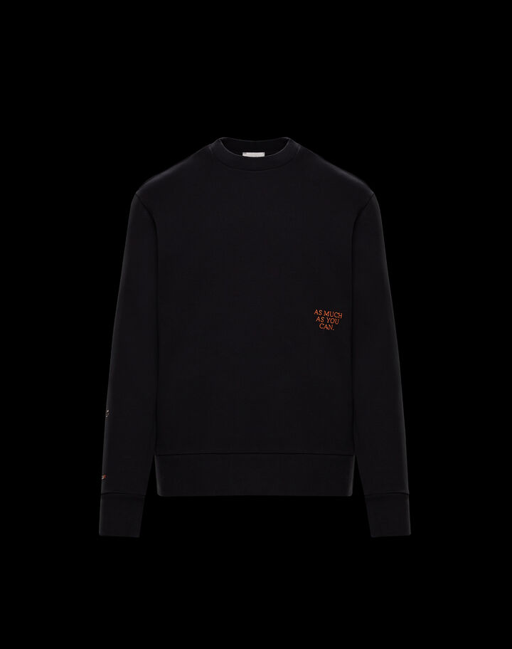"Moncler Sweater ""As much as you can"" Black"
