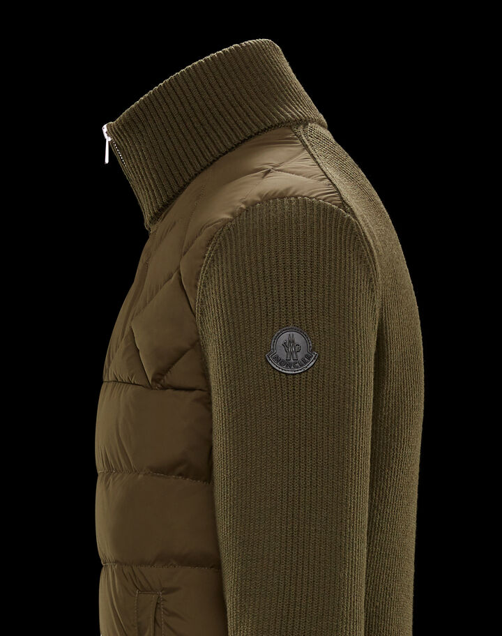 Moncler Down cardigan Army Green
