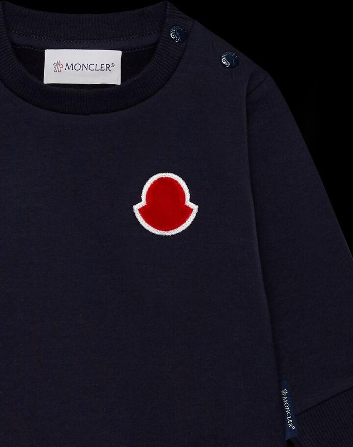 Moncler Crewneck sweatshirt logo Night Blue