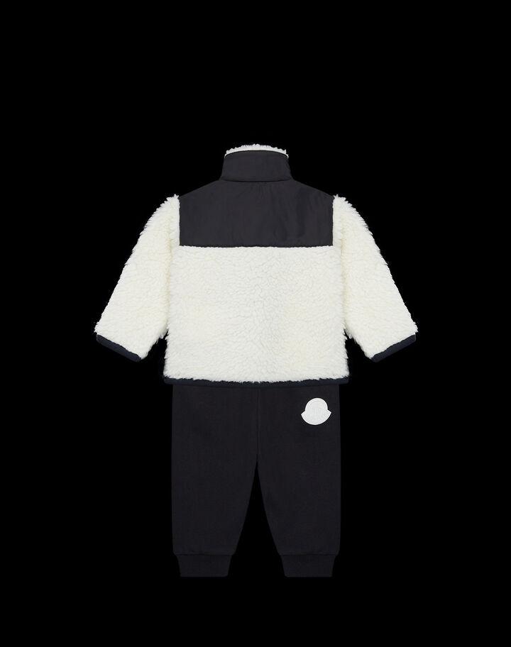 Moncler Teddy jogger set colorblock Black