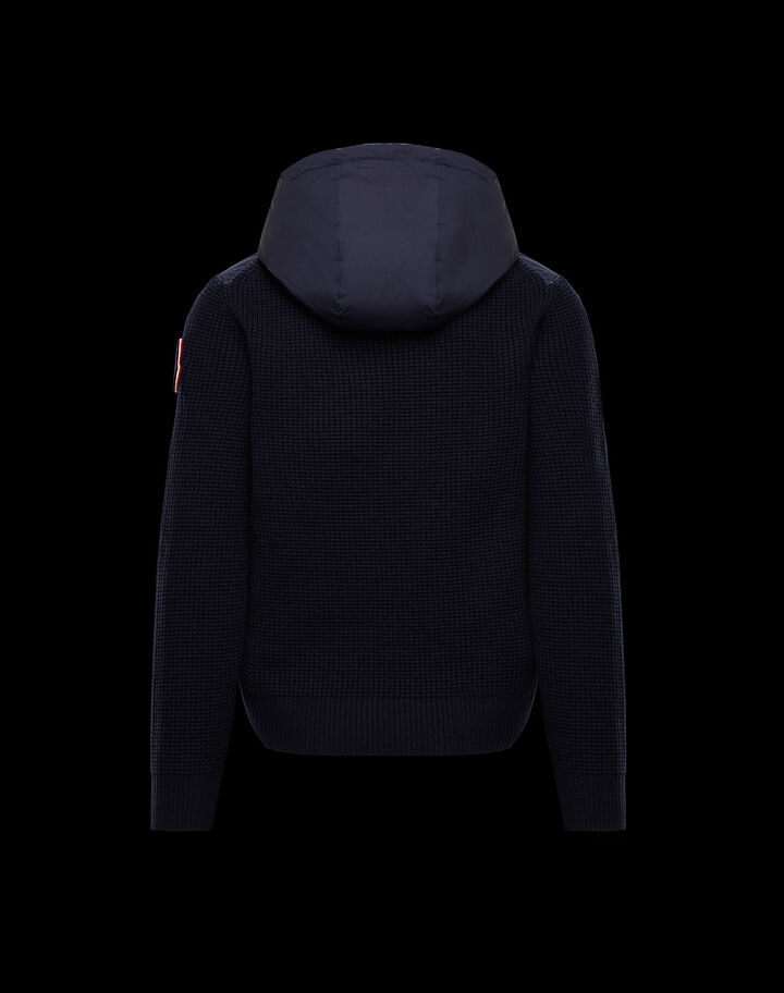 Moncler Wool and nylon cardigan Night Blue