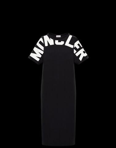 Moncler Moncler 레터링 드레스 블랙