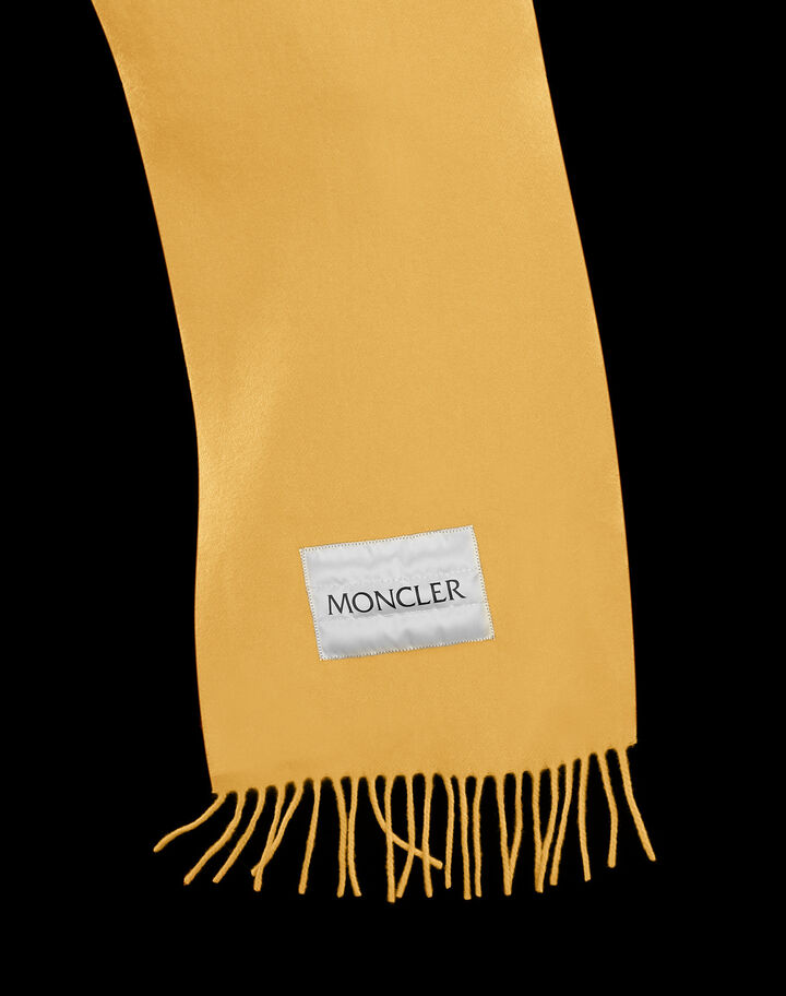 Moncler Small wool scarf Mustard Yellow