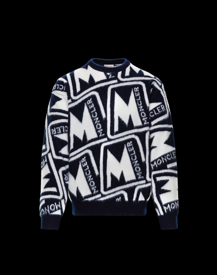Moncler Inlaid sweater Night Blue