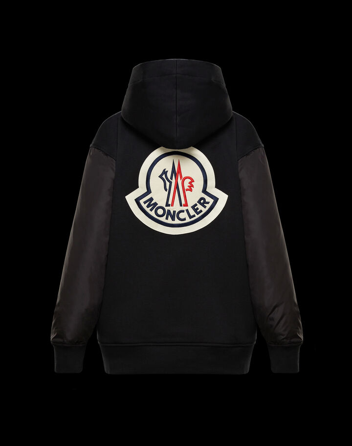 Moncler Hoodie with maxi logo Black