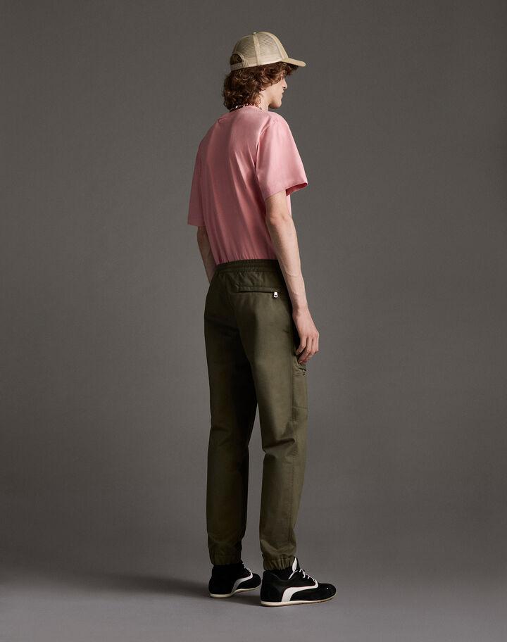 Moncler Cotton sports pants Army Green