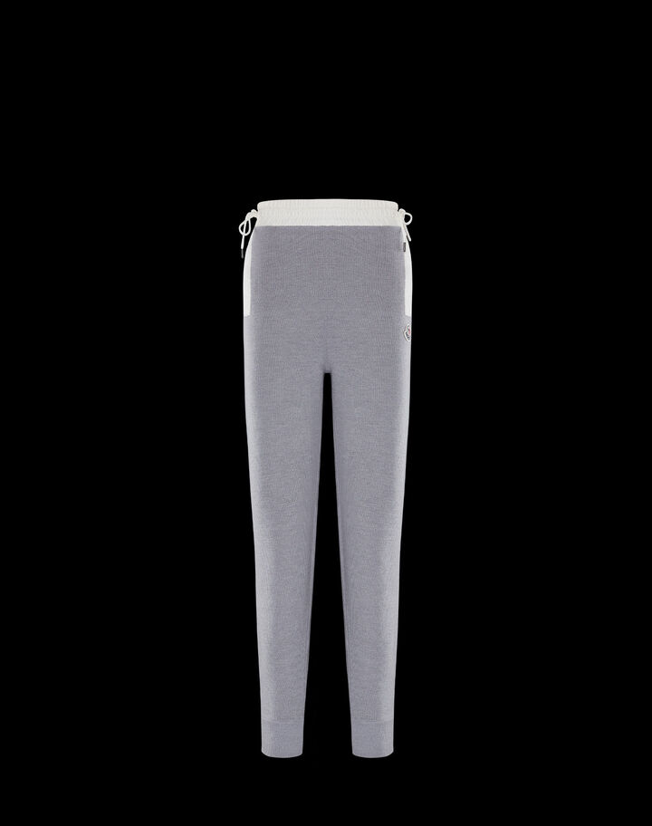 Moncler Large wool pants Melange Light Gray