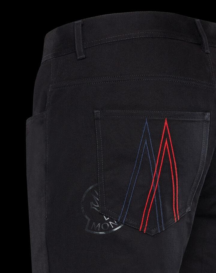 Moncler 5 pocket stretch pants Black