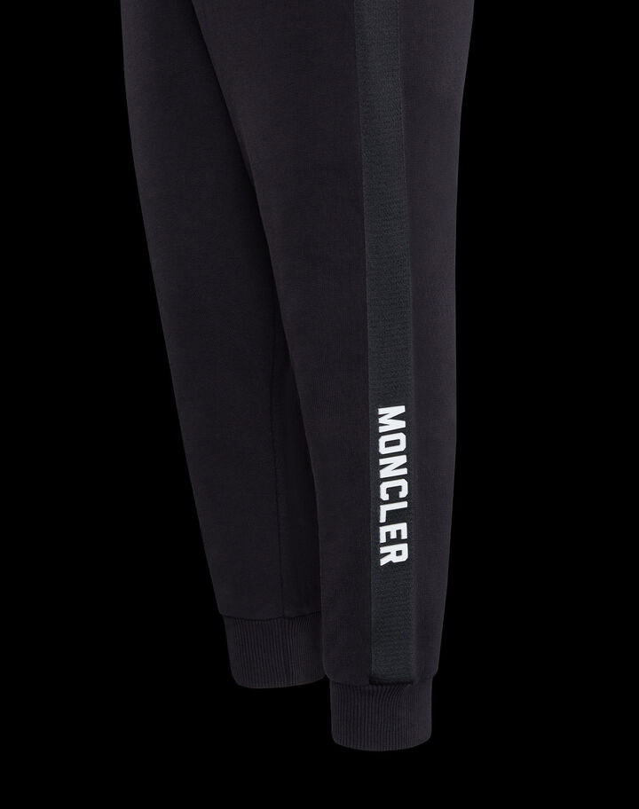Moncler Jumpsuit with print and lettering Black