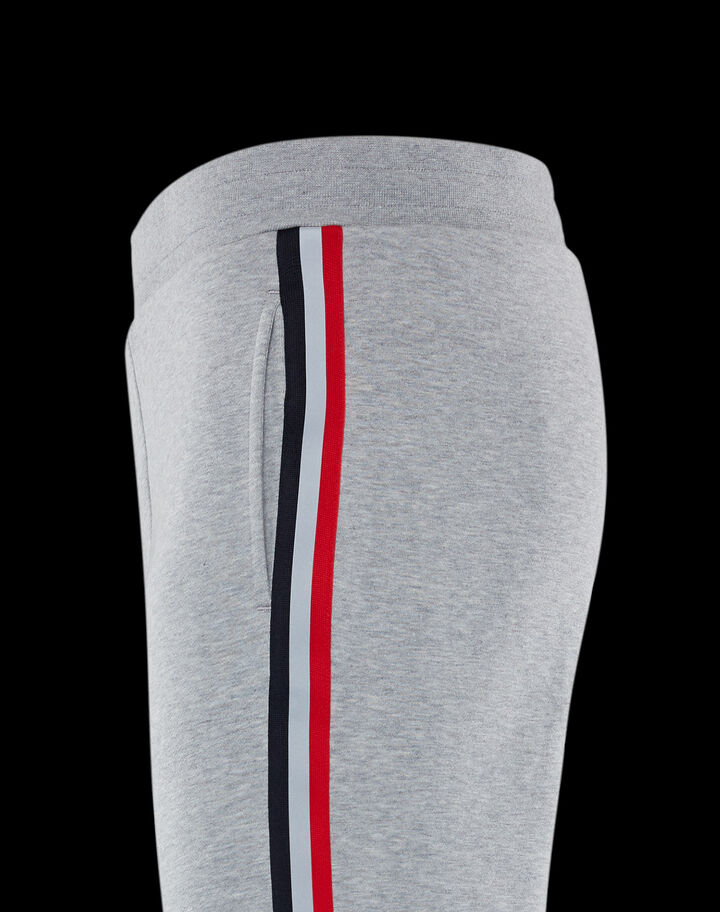 Moncler Pants with side band Melange Light Gray
