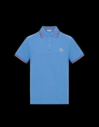 Moncler 3컬러 엣지 폴로 셔츠 더치 블루