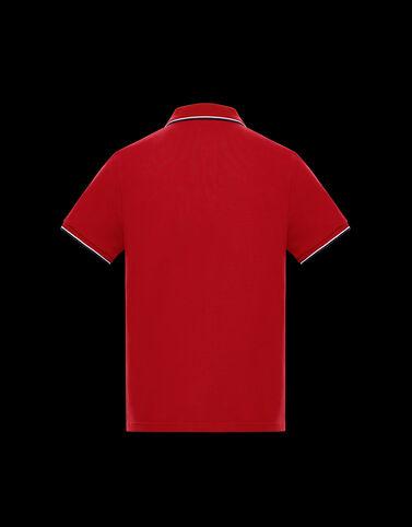Moncler 3컬러 엣지 폴로 셔츠 스칼릿 레드