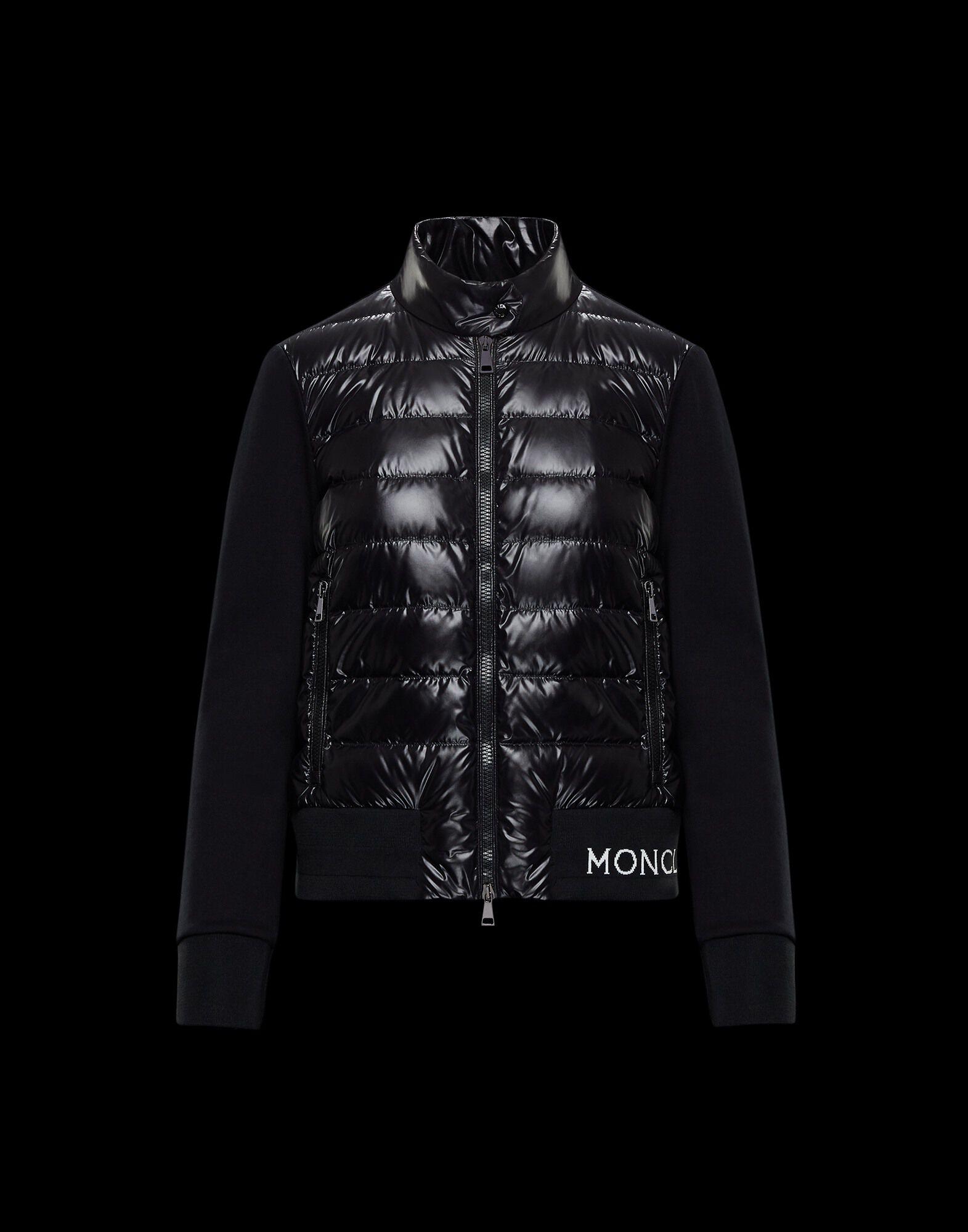 Moncler Hermine Padded Coat Black | Goxip