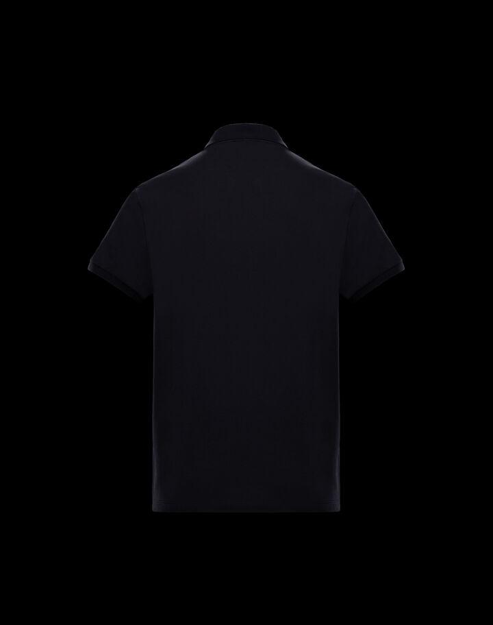 Moncler Polo with maxi logo Night Blue