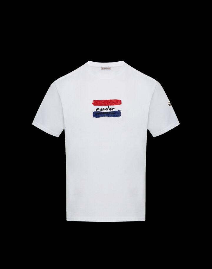 Moncler Brush effect t-shirt Optical White