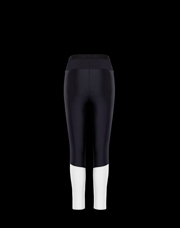 Moncler Contrast stitch leggings Silk White And Black