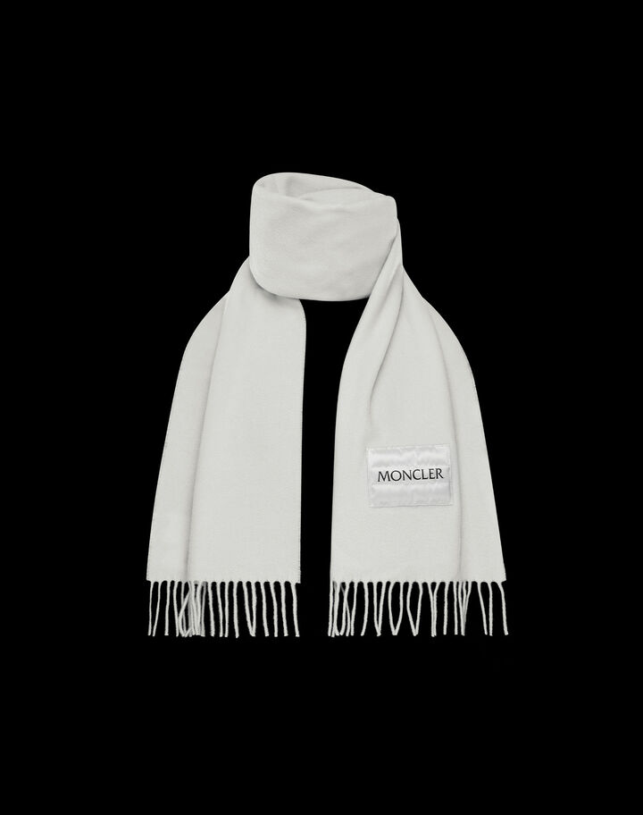 Moncler Small wool scarf Ivory White