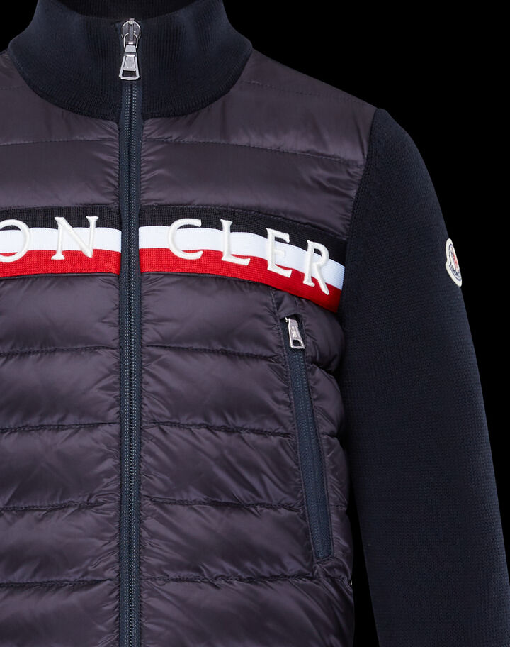 Moncler Cardigan with embroidery Night Blue