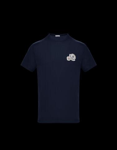 Moncler 더블 로고 티셔츠 나이트 블루