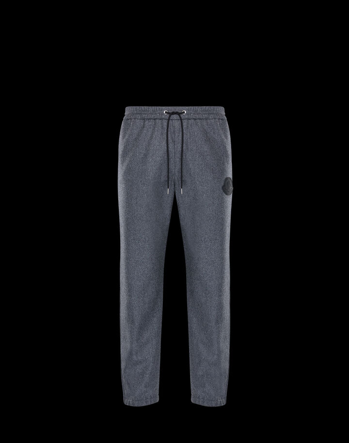 Moncler Flannel pants Melange Medium Gray