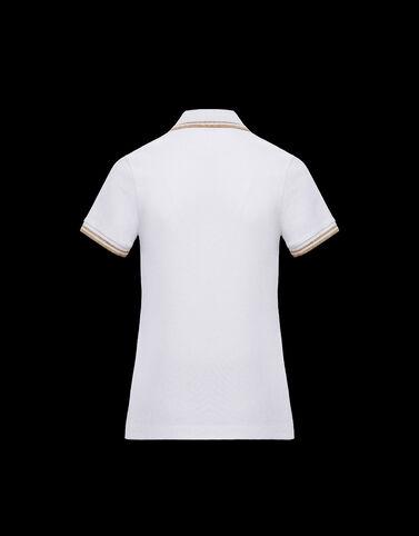Moncler 대비 배색 Moncler 로고 폴로 셔츠 옵티컬 화이트