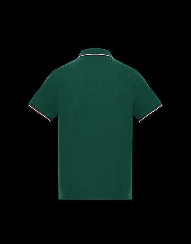 Moncler 3컬러 엣지 폴로 셔츠 정글 그린