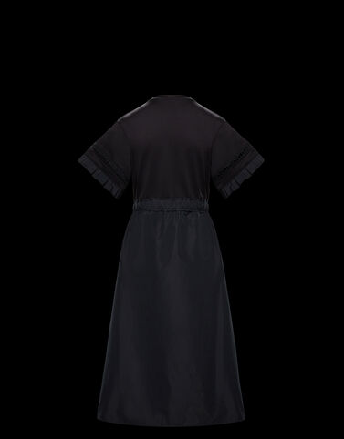 Moncler 로고 스티치 드레스 블랙