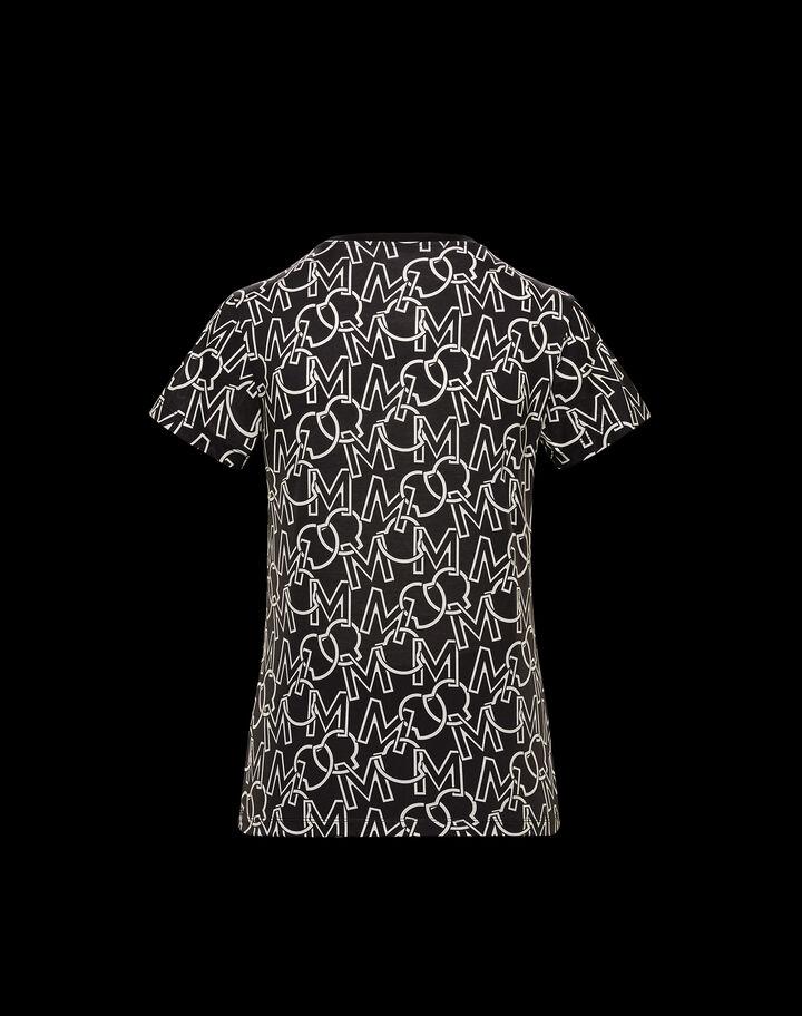Moncler Monogram printed t-shirt Dark Gray