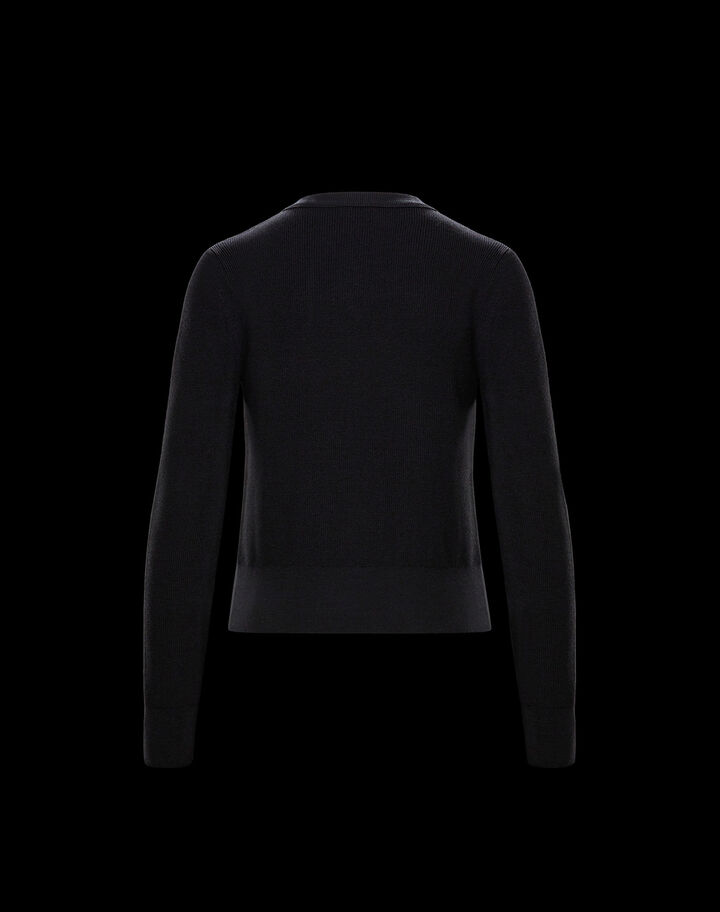 Moncler Patched sweater Black