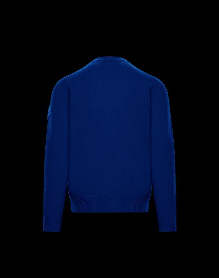 Moncler Cashmere blend sweater Royal Blue